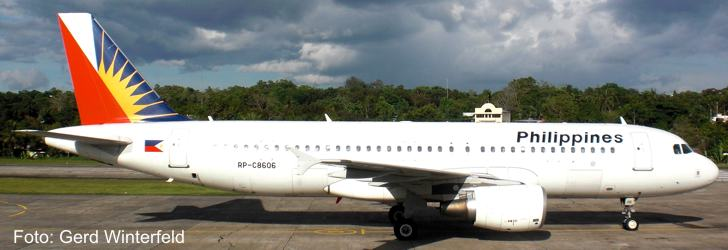 Philippines Airlines A320 at Bohol Airport